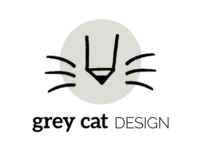 Grey Cat Design Logo