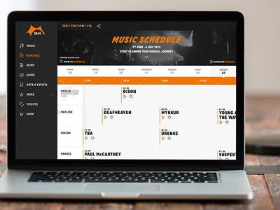 Roskilde Festival Band Schedule