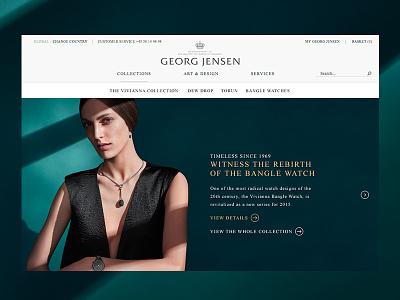 Georg Jensen — Vivianna georg jensen danish design big images jewellery gallery campaign