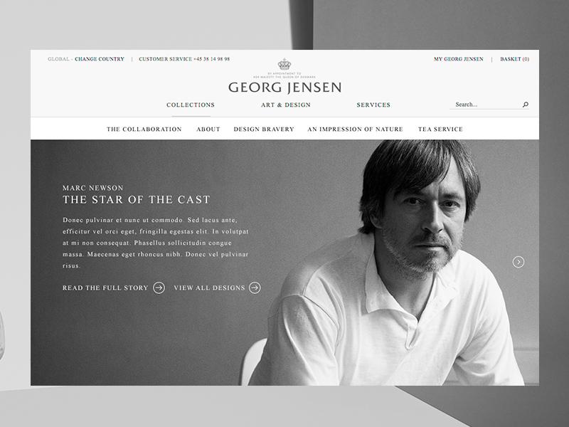 Georg Jensen — Marc Newson marc newson georg jensen danish design big images jewellery gallery campaign