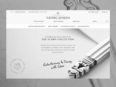Georg Jensen — Acorn Collection acorn georg jensen danish design big images jewellery gallery campaign