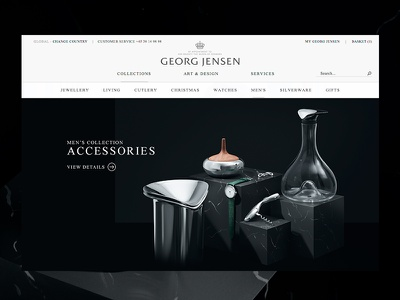 Georg Jensen — Mens Collection georg jensen danish design big images acorn jewellery gallery campaign