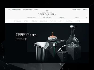 Georg Jensen — Mens Collection georg jensen danish design big images acorn jewellery gallery campaign