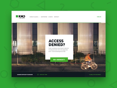 KMD — Access Denied big header big image footer gallery fullscreen