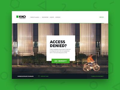 KMD — Access Denied big header big image footer gallery fullscreen