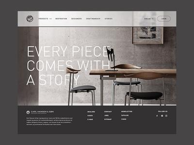 Carl Hansen & Søn; Refreshed. desktop fullscreen interior furniture danish design