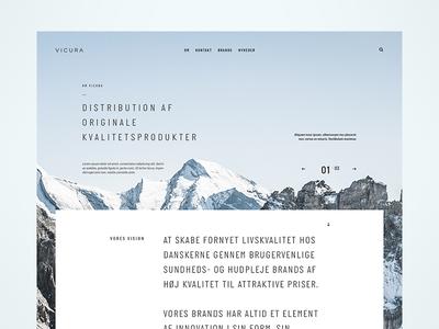VICURA homepage web medicin layout website landingpage ux ui desktop