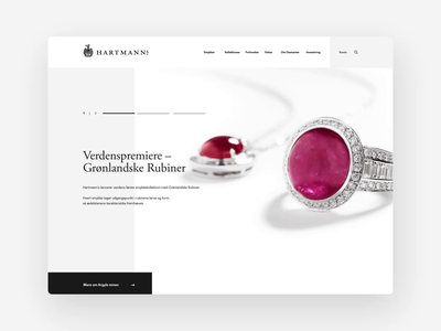 Hartmann's — Jeweller quote slider gallery user interface e-commerce jewellery danish design desktop