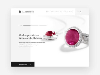 Hartmann's — Jeweller quote slider gallery user interface e-commerce jewellery danish design desktop