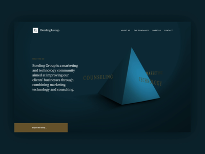 Bording Group: Website website web unfold triangle desktop motion ui landingpage
