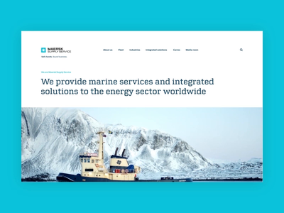 Maersk Supply Services Pitch clean scroll motion minimal shipping uidesign website desktop video animation