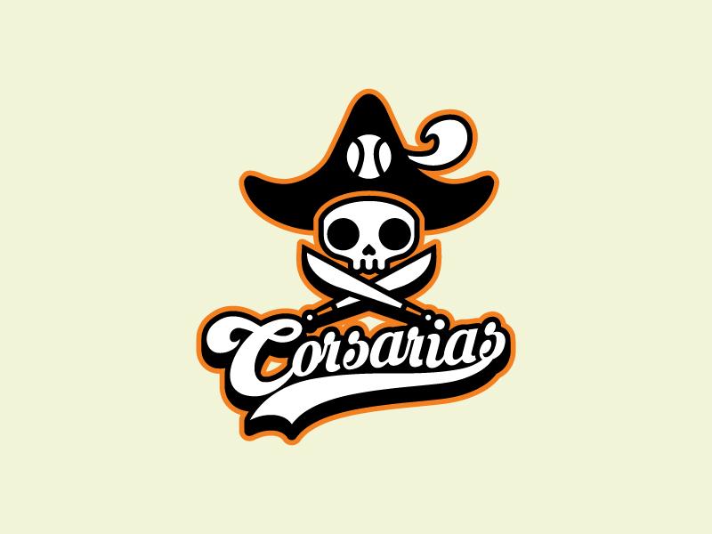 Corsarias Logo josuecp logo logo baseball. softball logo pirates corsarias