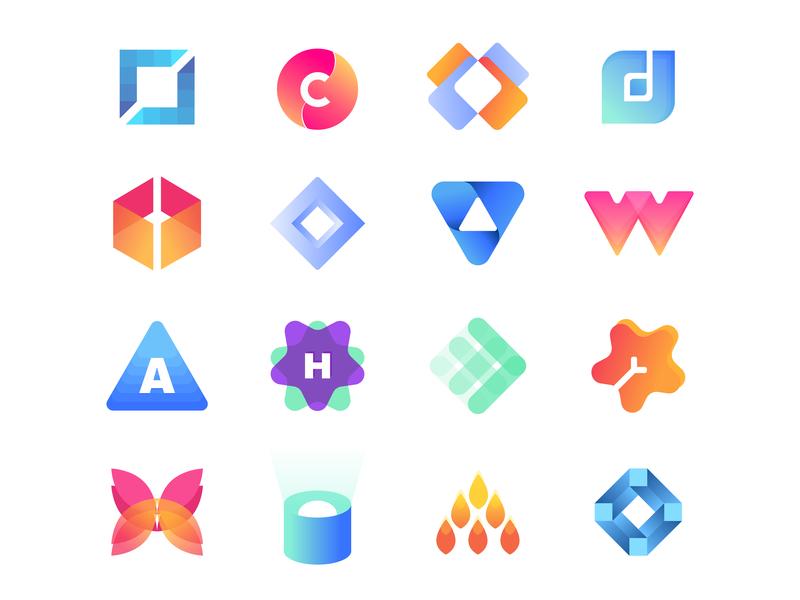 Logo Collection graphic design brand art clean ios identity minimal website flat web branding ui vector logo design illustration app