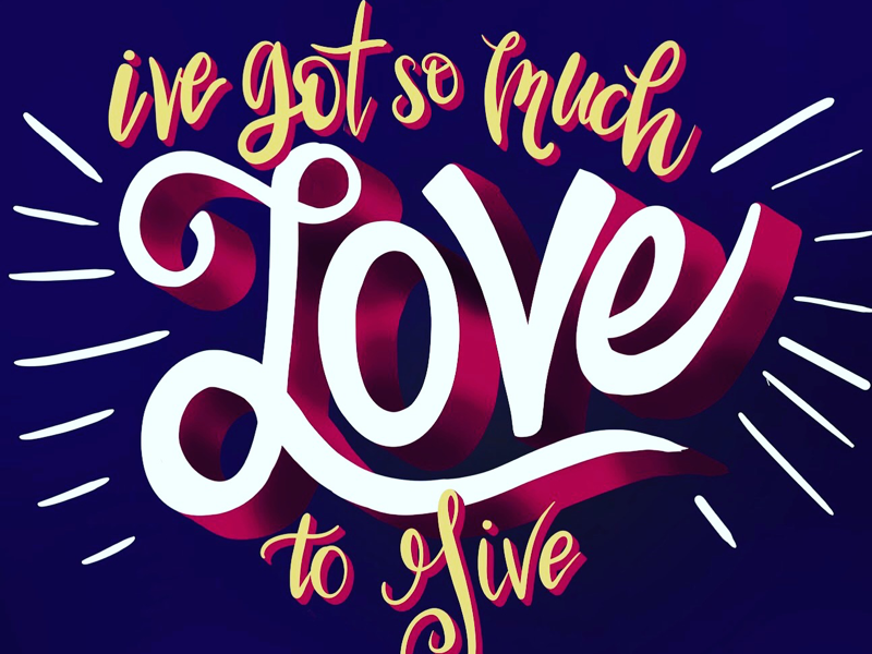 SO MUCH LOVE procreate ipad digital lettering