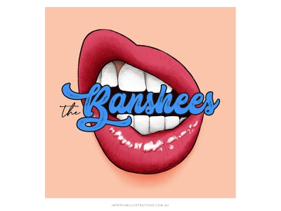 'The Banshees' Podcast Cover Art digital art lettering podcast cover design podcast artwork podcast branding podcast cover podcast art design illustration cover art