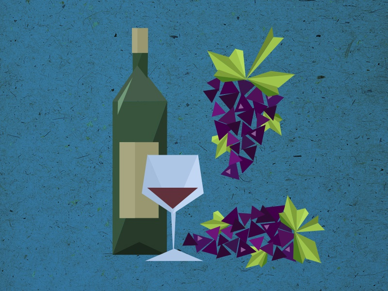 topic: wine illustration topics poster disussion evenings otvarac opener triangles