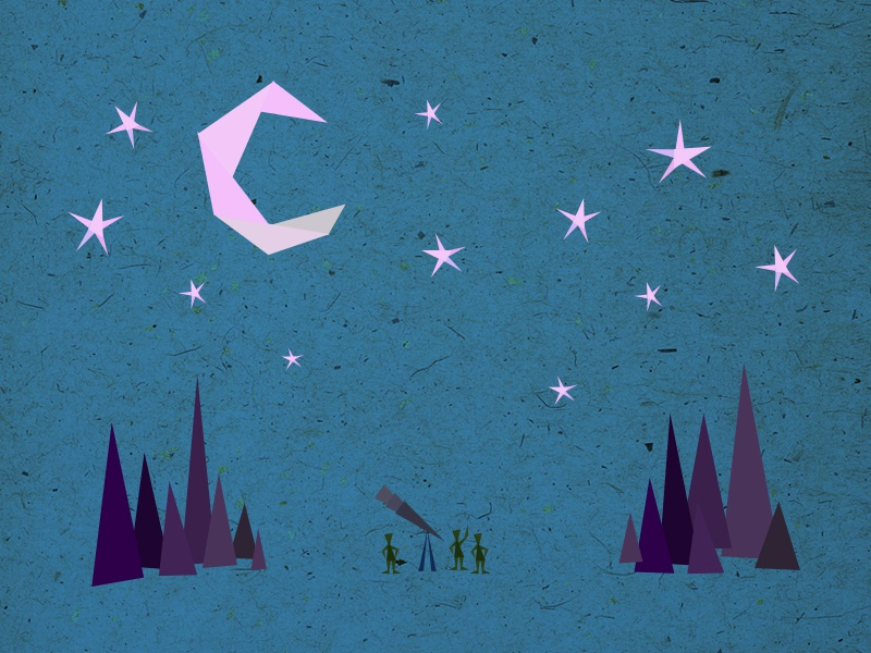topic: astronomy triangles opener otvarac disussion evenings poster topics illustration