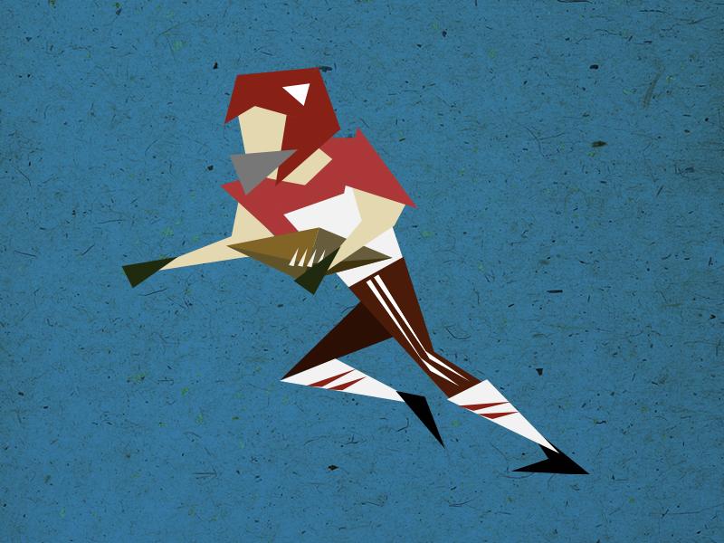 topic: football illustration topics poster disussion evenings otvarac opener triangles
