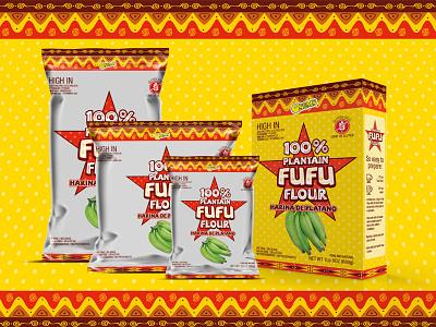 Fufu Flour - Harina de Plátano plantain platano harina yellow box packaging