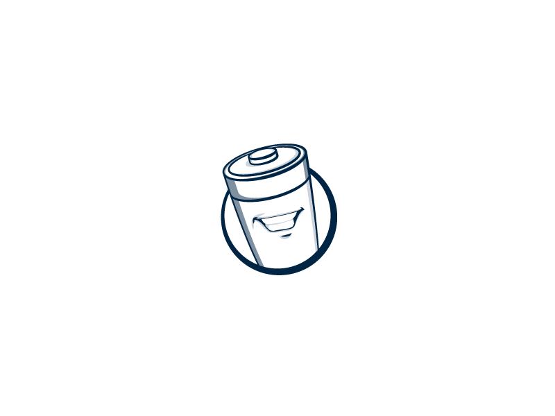 Handsome Battery design battery vector branding mascot logo