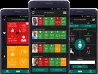 Caren RPM Mobile App Screens