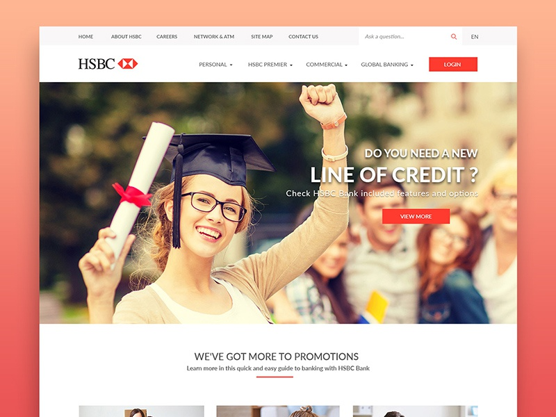 Personal HSBC Bank Redesign by Quy Nguyen on Dribbble