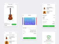 E-Commerce Payment App (White color)