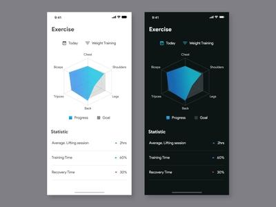 Health Exercise App Design