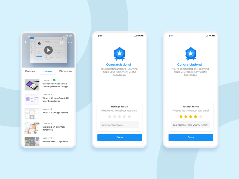 Complete Lessons to Get Certificate communication design cleaning pattern design learning app icon design ux vector branding app ios illustration education user experience user inteface material design