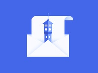 Campus Email Illustration