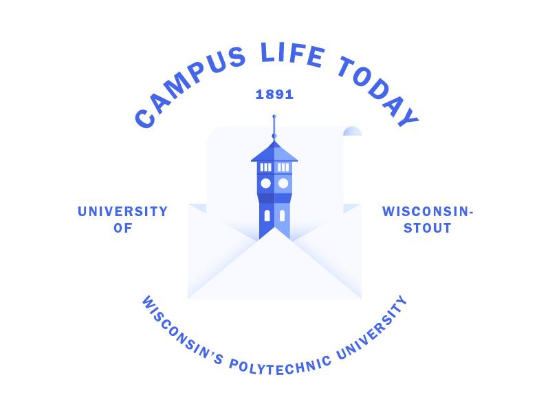 Campus Life Today White Bg 02 graphic design uw-stout clean blue illustration