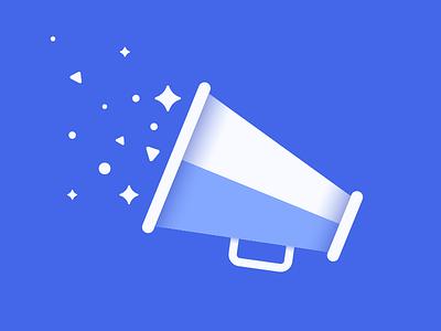 Announcements Icon graphic design announcements uw-stout clean blue illustration