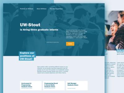 UW-Stout Graduate Intern Micro-Site