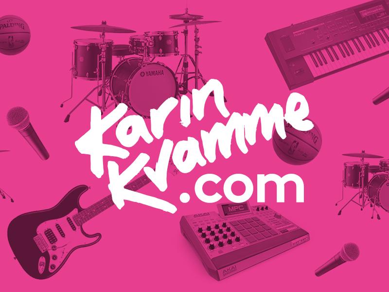 Karin Kvamme music identity logo