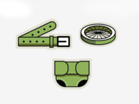 Icons for recycle station