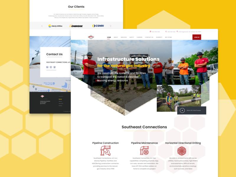 Website / Southeast Connections uiux ui websitedesign graphicdesign designer webdesigner webdesign antonzuienko ux design ui design