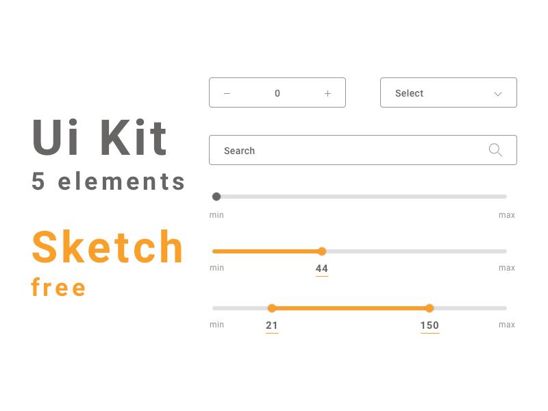 Ui Kit 5 elements / Sketch file free sketch guidelines guide ui-kit ui