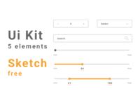 Ui Kit 5 elements / Sketch file free