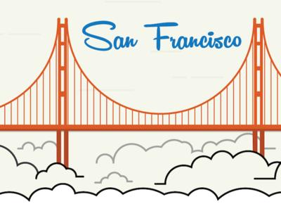 San Francisco san francisco golden gate bridge california infographic clouds fog bridge script san fran bay area sfo