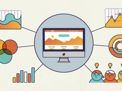 Geekwire Spot Illustration graph data charts stroke minimal clean illustration fresh fresh consulting