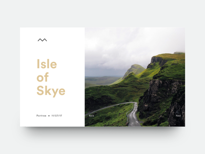 Isle of Skye card minimal type design graphic travel