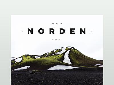 Norden travel iceland minimal design graphic type