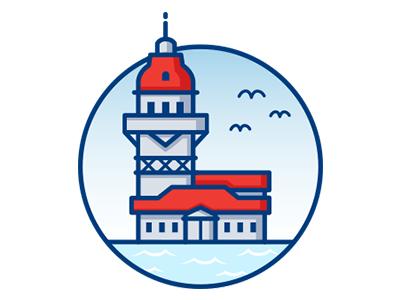 Turkish Cities İstanbul Kiz Kulesi Icon