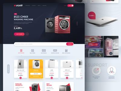 Arcelik Website Redesign