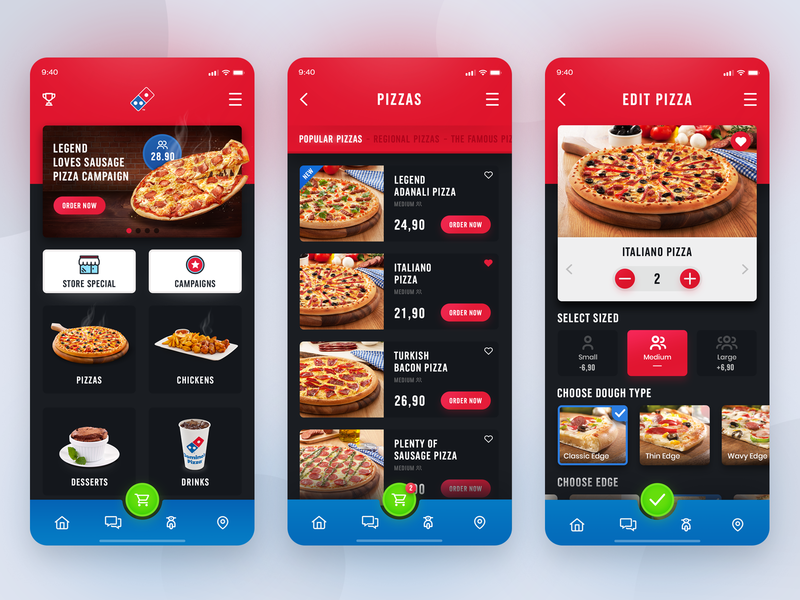Domino's Pizza App concept ui mobile iphone x delivery food app design pizza dominos