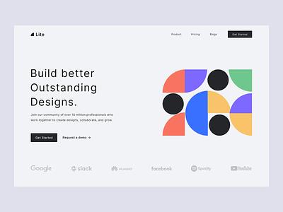 Design Software ui ux homepage design