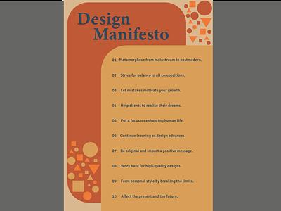 Personal design manifesto identity visual communication personality lifestyle manifesto graphic design typography design