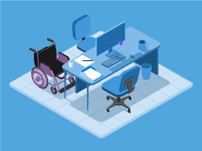Accessible Office illustration isometry accessibility
