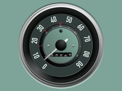 Vector VW Beetle 1963 gauge gauge affinity designer vector art illustration