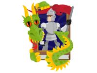 Fairy Tale Knight & Dragon